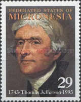[The 250th Anniversary of the Birth of Thomas Jefferson (U.S. President, 1801-09), 1743-1826, Typ KC]