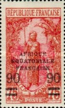[Not Issued Stamps Surcharged, type J]