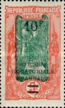 [Not Issued Stamps Surcharged, type J4]