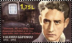 [The 100th Anniversary of the Birth of Valeriu Gafencu, 1921-1952, type APG]