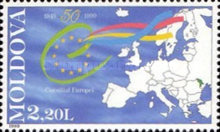 [The 50th Anniversary of Council of Europe, type JA]