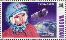 [The 40th Anniversary of the First Manned Space Flight by Yuri Gagarin, 1934-1964, type MB]