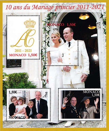 [The 10th Anniversary of the Wedding of Prince Albert and Princess Charlene, type ]
