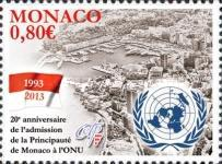 [The 20th Anniversary of Monaco's Membership of the United Nations, type DQT]