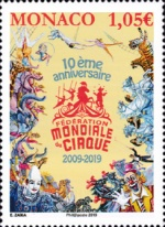 [The 10th Anniversary of the International Circus Federation, type EBC]