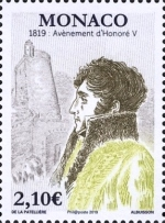 [The 200th Anniversary of the Coronation of Prince Honoré V, 1778-1841, type EBQ]