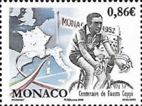 [The 100th Anniversary of the Birth of Fausto Coppi, 1919-1990, type ECB]