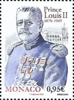 [The 150th Anniversary of the Birth of Prince Louis II, 1870-1949, type EDR]