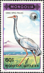 [Birds - White-naped Crane, type BWM]