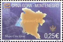 """[Symbols of Sovereignty - Inscription 2005 and """"Posta Crne Gore"""", type AA1]"""