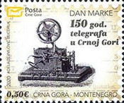 [Day of the Stamp - The 150th Anniversary of Telegram Service in Montenegro, type NV]