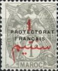 """[French Post in Morocco Postage Stamps Overprinted """"PROTECTORAT FRANCAIS"""", type A]"""