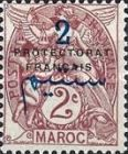 """[French Post in Morocco Postage Stamps Overprinted """"PROTECTORAT FRANCAIS"""", type A1]"""