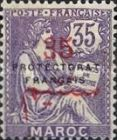 """[French Post in Morocco Postage Stamps Overprinted """"PROTECTORAT FRANCAIS"""", type A10]"""