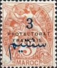 """[French Post in Morocco Postage Stamps Overprinted """"PROTECTORAT FRANCAIS"""", type A2]"""