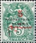 """[French Post in Morocco Postage Stamps Overprinted """"PROTECTORAT FRANCAIS"""", type A3]"""