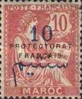 """[French Post in Morocco Postage Stamps Overprinted """"PROTECTORAT FRANCAIS"""", type A4]"""