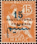 """[French Post in Morocco Postage Stamps Overprinted """"PROTECTORAT FRANCAIS"""", type A5]"""