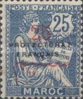 """[French Post in Morocco Postage Stamps Overprinted """"PROTECTORAT FRANCAIS"""", type A7]"""