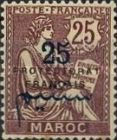 """[French Post in Morocco Postage Stamps Overprinted """"PROTECTORAT FRANCAIS"""", type A8]"""