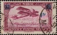 [Airmail - Plane over Casablanca - Issues of 1922 Surcharged, type CC]