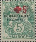 """[No. 4 without Arab Charcters Overprinted """"+ 5c"""", type F]"""