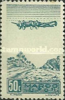 [Airmail - Plane on Palm Grove, type GO]