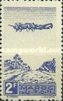 [Airmail - Plane on Palm Grove, type GP]