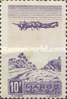 [Airmail - Plane on Palm Grove, type GR]