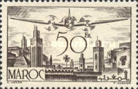 [Airmail - Plane over Rabat, type GV]