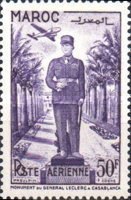 [Airmail - Inauguration of the Monument for General Leclerc, Casablanca, type LC3]