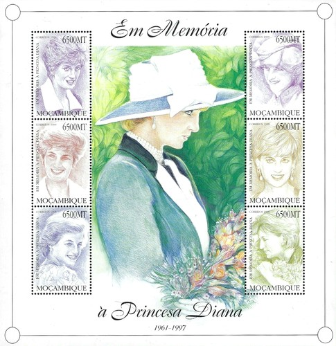[The 2nd Anniversary of the Death of Diana, Princess of Wales, 1961-1997, Typ ]