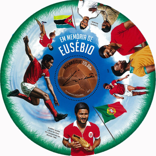 [Sports- Football - In Memory of Eusebio, 1942-2014, Typ ]