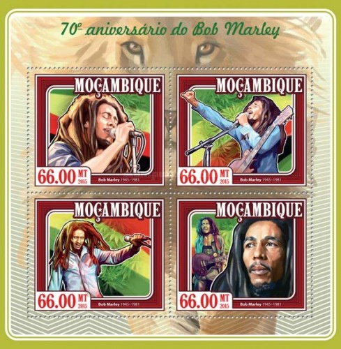 [The 70th Anniversary of the Birth of Bob Marley, 1945-1981, Typ ]