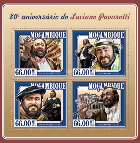 [The 80th Anniversary of the Birth of Luciano Pavarotti, 1935-2007, Typ ]