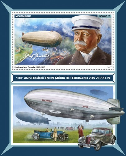 [Transportation - The 100th Anniversary of the Death of Ferdinand von Zeppelin, 1838-1917, Typ ]