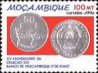 [The 15th Anniversary of Bank of Mozambique, Typ AFN]