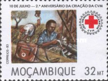 [The 2nd Anniversary of Mozambique Red Cross, type VZ]