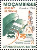 [The 25th Anniversary of the TDM - Telecommunication de Mozambique, Typ XQF]