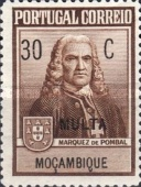 [Marquis of Pombal Monument - Portuguese Postage Stamps in Changed Colors & Overprinted