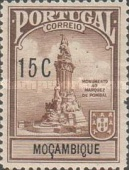 [Marquis of Pombal Monument - Portuguese Postage Stamps in Changed Colors & Overprinted Value &