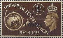 [Great Britain Postage Stamps U.P.U. Issue of 1949 Surcharged, type E3]