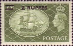[Great Britain Postage Stamps Issues of 1950 & 1951 Surcharged, type F6]