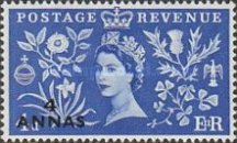 [Great Britain Postage Stamps Issue of 1953 Surcharged, type H1]
