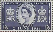 [Great Britain Postage Stamps Issue of 1953 Surcharged, type H3]