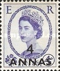 [Great Britain Postage Stamps Issue of 1952-1954 Surcharged, type I4]