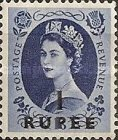 [Great Britain Postage Stamps Issue of 1952-1954 Surcharged, type I7]
