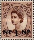 [Great Britain Postage Stamps Issue of 1955-1957 Surcharged, type L]