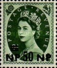 [Great Britain Postage Stamps Issue of 1955-1957 Surcharged, type L9]