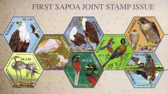 [The 1st Joint Issue of Southern Africa Postal Operators Association Members, type ]